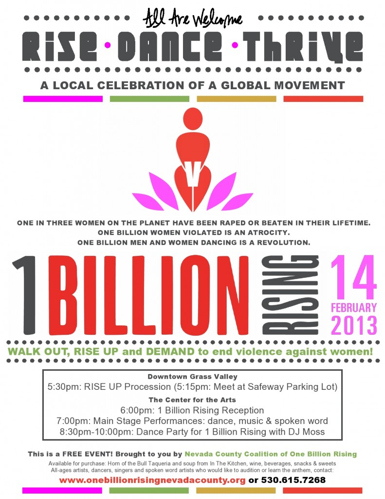 1Billion Rising Flyer Nevada County -1