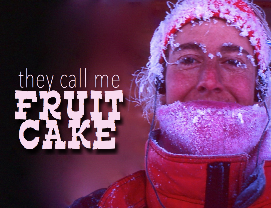 Fruitcake with Text