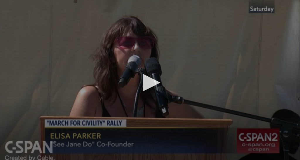 Elisa Parker at March for Civility